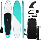 Triclicks Tabla Hinchable Paddle Surf/Sup Paddel Surf dacon Bomba, Mochila, Aleta Central Desprendible, Kit de…