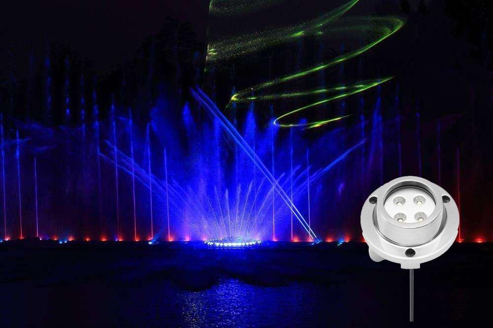 250LM 10-12W LED Unterwasserlicht 12V IP68 Pool Licht Runde Unterwasserbeleuchtung Teichbeleuchtung Unterwasser Led f/ür Boote Aquarium Brunnen oder Teich RGB