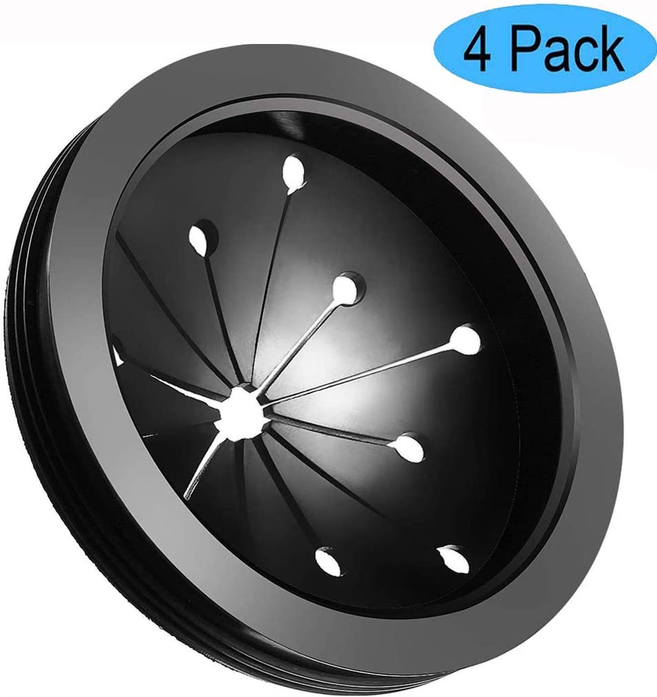 Emoly 4 Pack Garbage Disposal Splash Guards and Stopper Set, Food Waste Disposer Accessories Multi-Function Drain Plugs Splash Guards for Whirlaway, Waste King, Sinkmaster