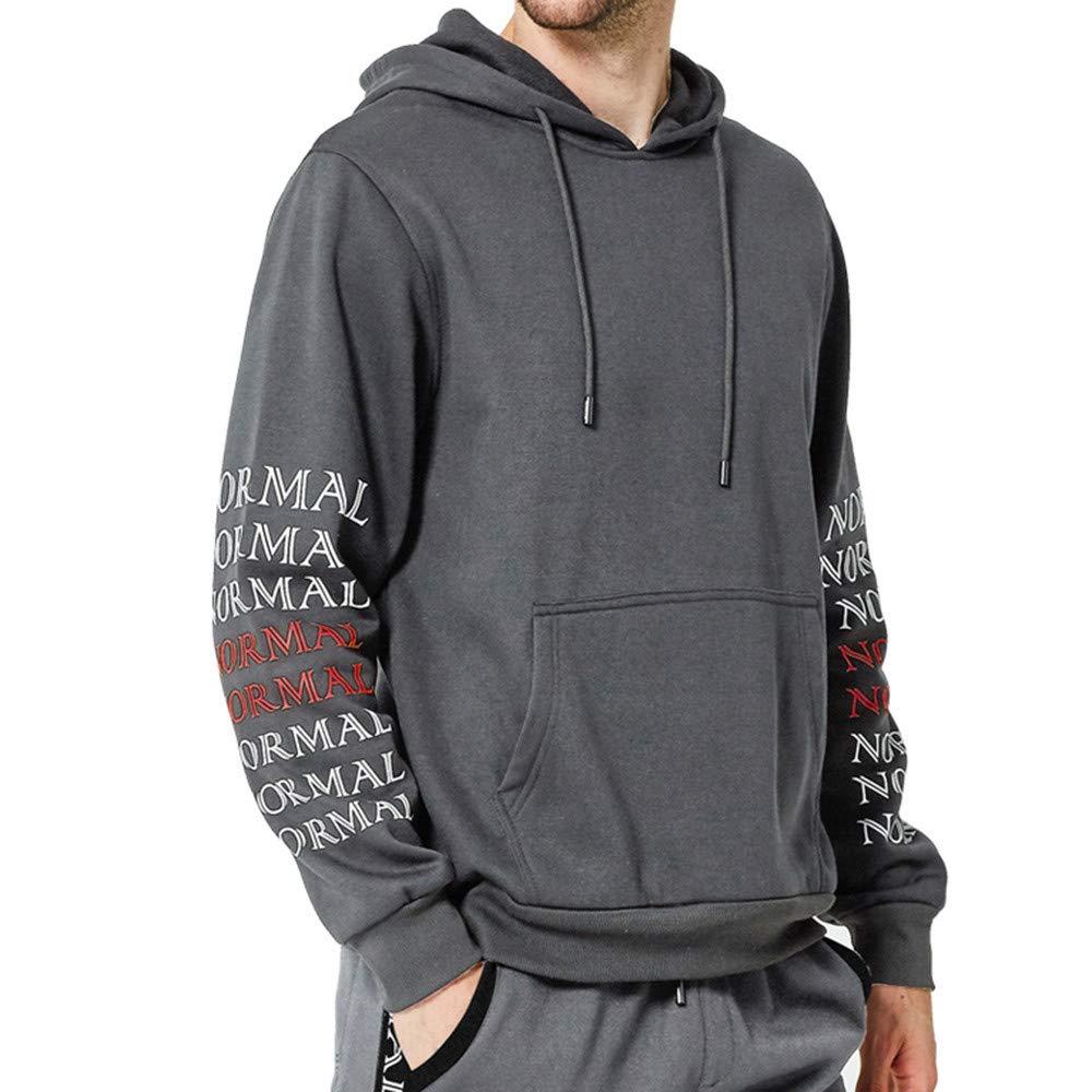 ZODOF Chaqueta Slim para Hombre Los Hombres de otoño Winter Letters Sudadera Top Pants Sets Sports Suit Chándal: Amazon.es: Ropa y accesorios