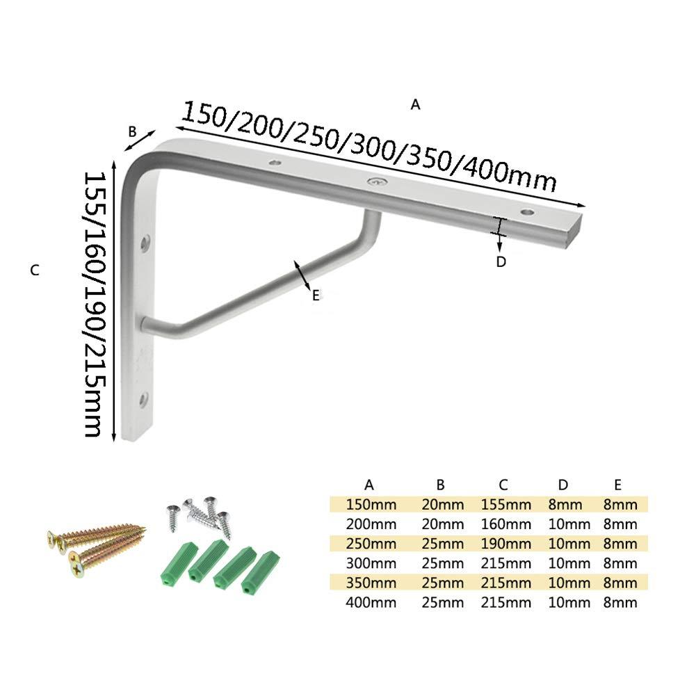 carico Massimo 20 kg Staffa Metallica//Mensola Galleggiante da Parete//Staffa da Giardino 2x90 /° Supporto da Esposizione e Supporto per mensola in Metallo