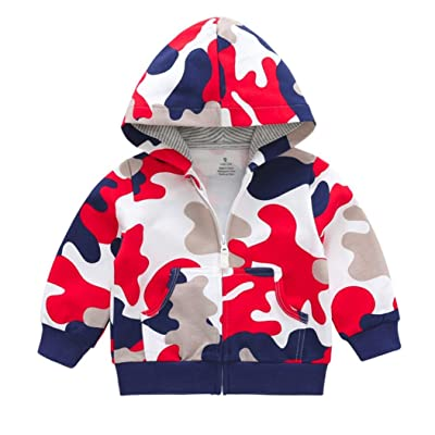 Kimanli Children Kids Baby Girls Boys Camouflage Print Tops Casual Coat