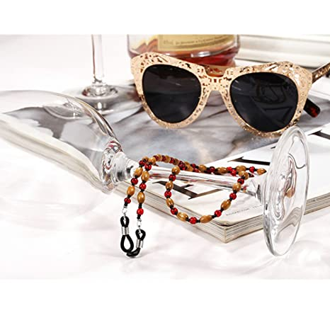 Tinksky Porte-lunette Bracelets de lunettes de soleil Lunettes de lecture en perles Collier de chaîne Collier, cadeau pour amis
