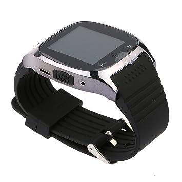 HuntGold Reloj de pulsera Bluetooth universal para iOS y Android Smartphone M26 -- Negro