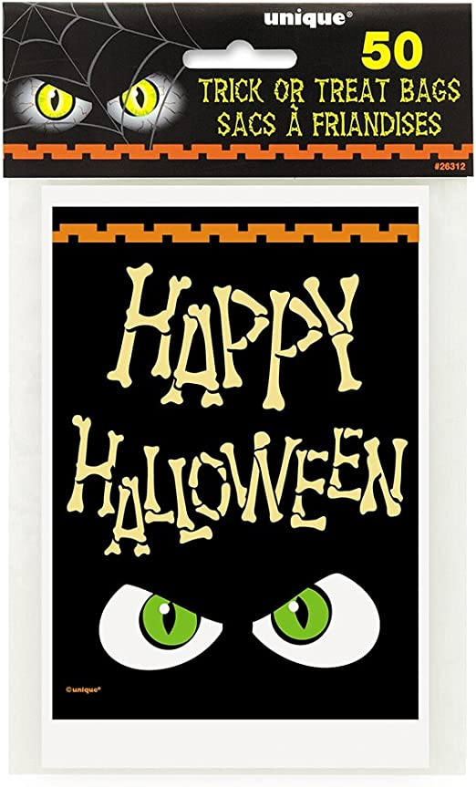 Bones Happy Halloween Treat Bags 50ct Unique 26312