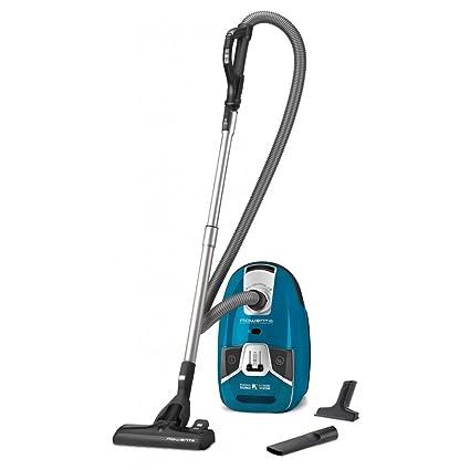 Rowenta Silence Force - Aspirador con bolsa, 3.5 L, 750 W, color azul
