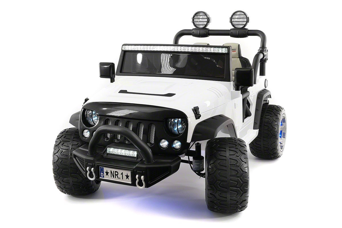 12 Volt Explorer Truck Battery Powered Led Wheels 2 Seater Children Ride On Toy Car for Kids Leather Seat MP3 Music Player with FM Radio Bluetooth R/C Parental Remote by Moderno Kids