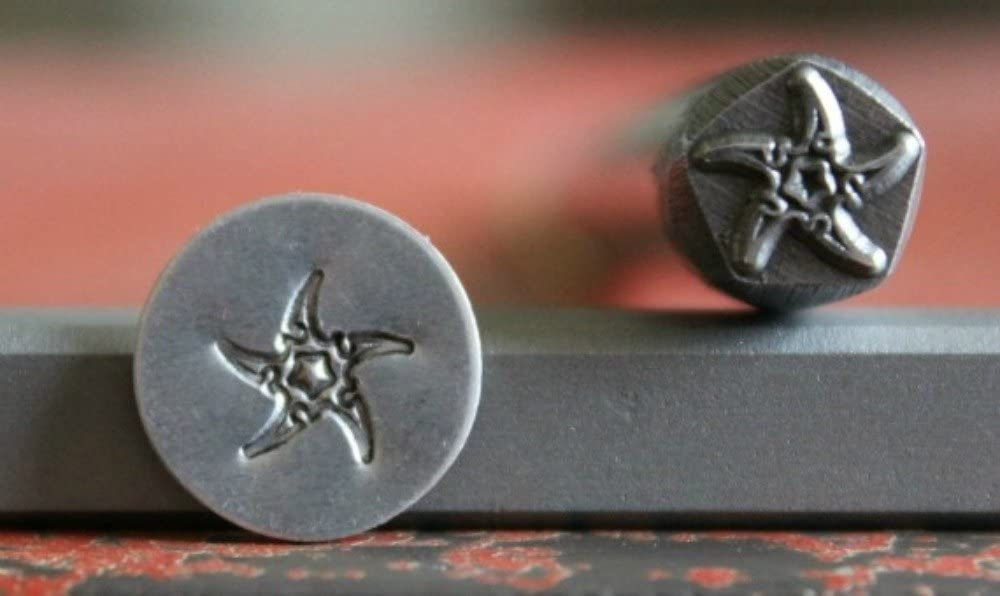 Made in USA SUPPLY GUY 7mm Single Metal Punch Design Stamp: Nautical /& Ocean Life STARFISH SGDK-9 Not a Set