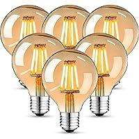 Edison Vintage gloeilamp, Edison LED-lamp warm wit E27 4W retro gloeilamp vintage antieke gloeilamp ideaal voor…