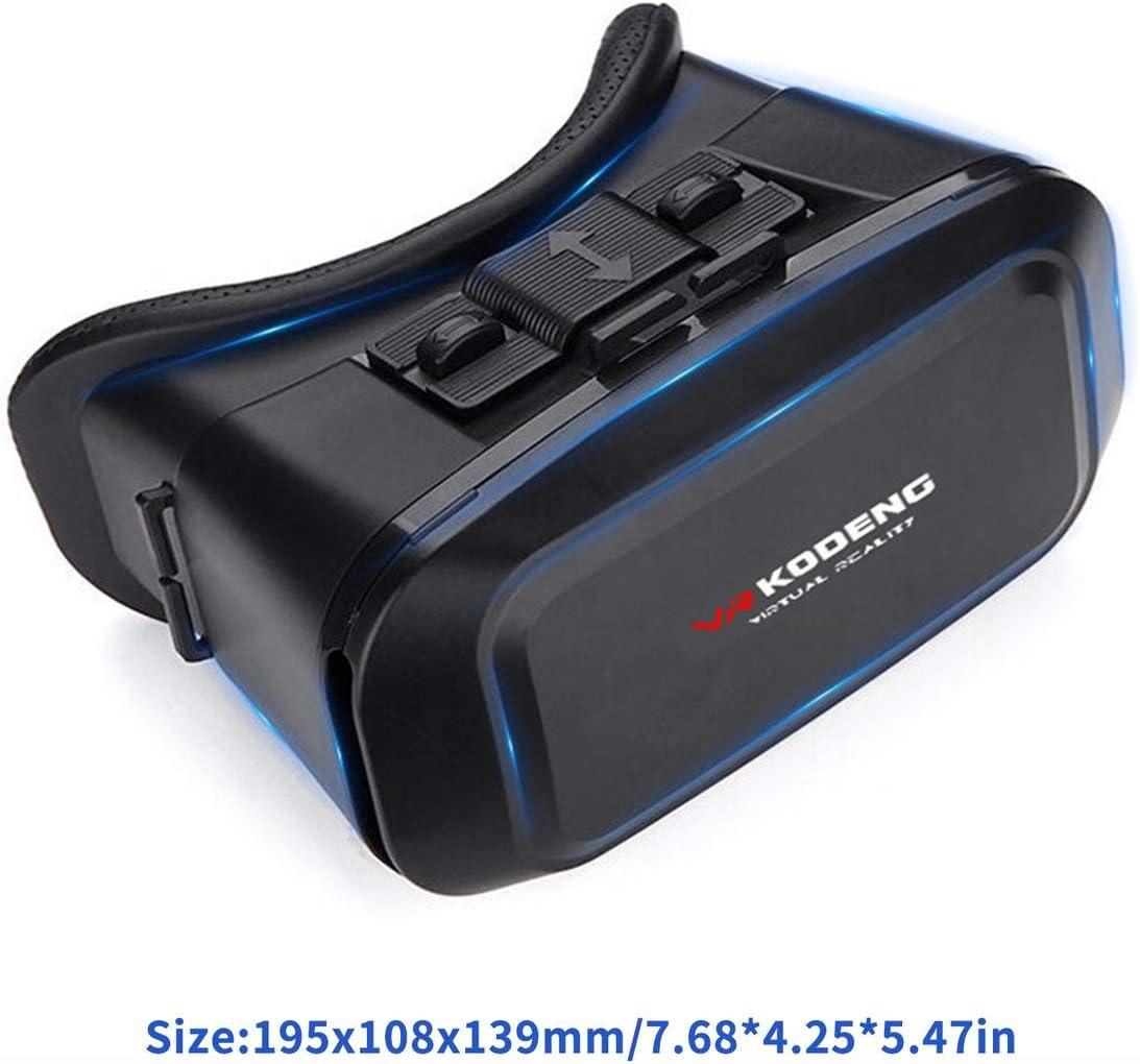 Negro MXECO K2 3D VR Realidad Virtual Gafas VR M/áscara de Ojo de Cuero Genuino Casco Inteligente Juego est/éreo Cajas de Cine adecuadas para tel/éfonos Inteligentes