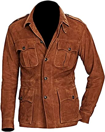 Mens Tan Leather Waistcoat 004