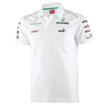 b0a5437e471 Puma Mercedes AMG Petronas F1 Men's Team Polo Shirt, White, XXL ...