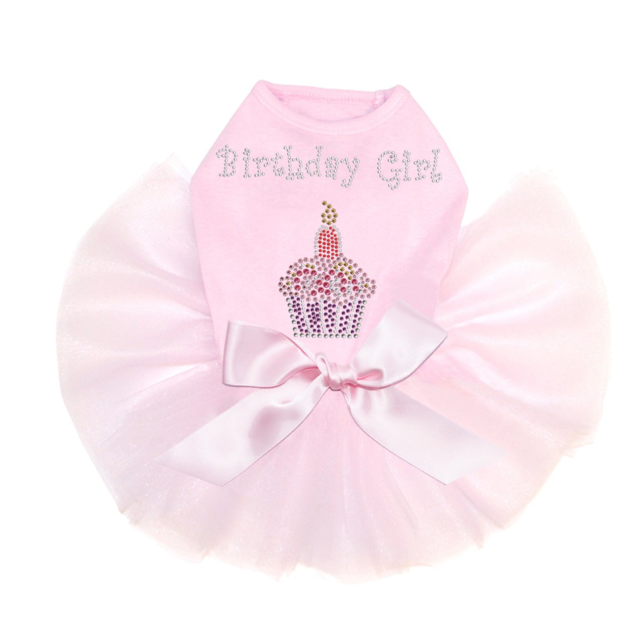 Birthday Girl - Dog Tutu Dress, M Pink