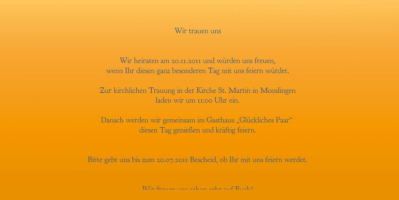 Kartenparadies Hochzeitskarte Hochzeit Einladung Din Ringetausch, hochwertige Einladung zur Heirat Heirat Heirat inklusive Umschläge   10 Karten - (Format  215x105 mm) Farbe  flamingoOrangerot B01MYAFGR8 | Schön und charmant  | Sonderpreis  | Vorzügliche Verarbe 11319a