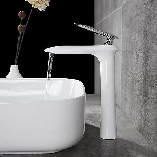 homelody robinet de lavabo mitigeur pour vasque à poser ... - Robinet Haut Pour Vasque A Poser