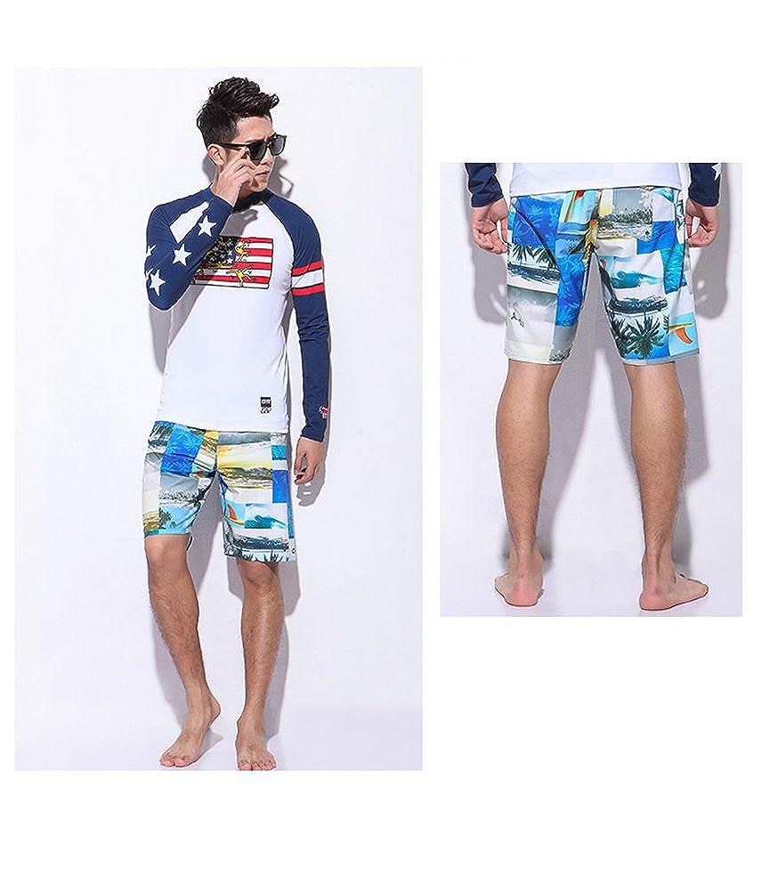GSOU Snow Mens Pants Board Shorts Trunks Quick Dry Swimwear Drawstring Waist Swimsuit Swim Beach Pocket Boy Running Waist