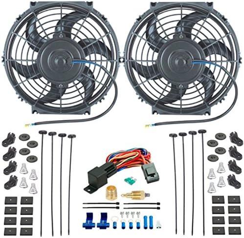 American V Dual 10 pulgadas Radiador eléctrico ventiladores de ...
