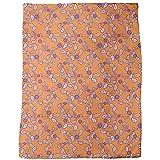 Orange Paisley Blanket: Large