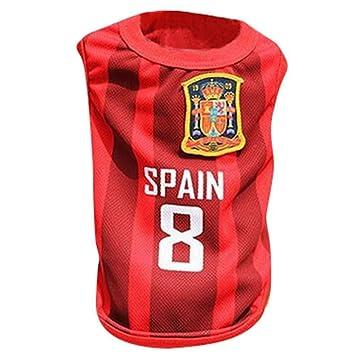 KayMayn - Camiseta de fútbol con licencia para perro, incluye 6 tallas, diseño de