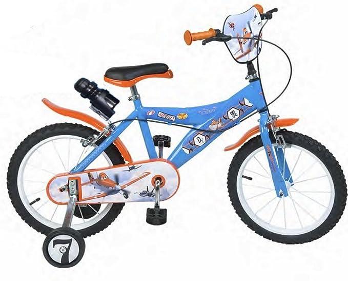 Bicicleta oficial para niño 16 cm, diseño de Aviones Disney ...