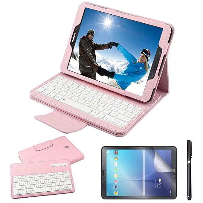 Amazon.com: Galaxy Tab S2 9.7 Keyboard Case with Screen Protector & Stylus, REAL-EAGLE Separable Fit PU Leather Case Cover Magnetically Bluetooth Keyboard ...