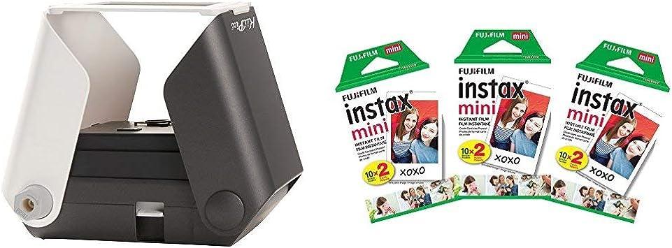 Kiipix Impresora De Fotos Para Smartphone 3 Paquetes Dobles 60 Imágenes En Total Color Negro Camera Photo