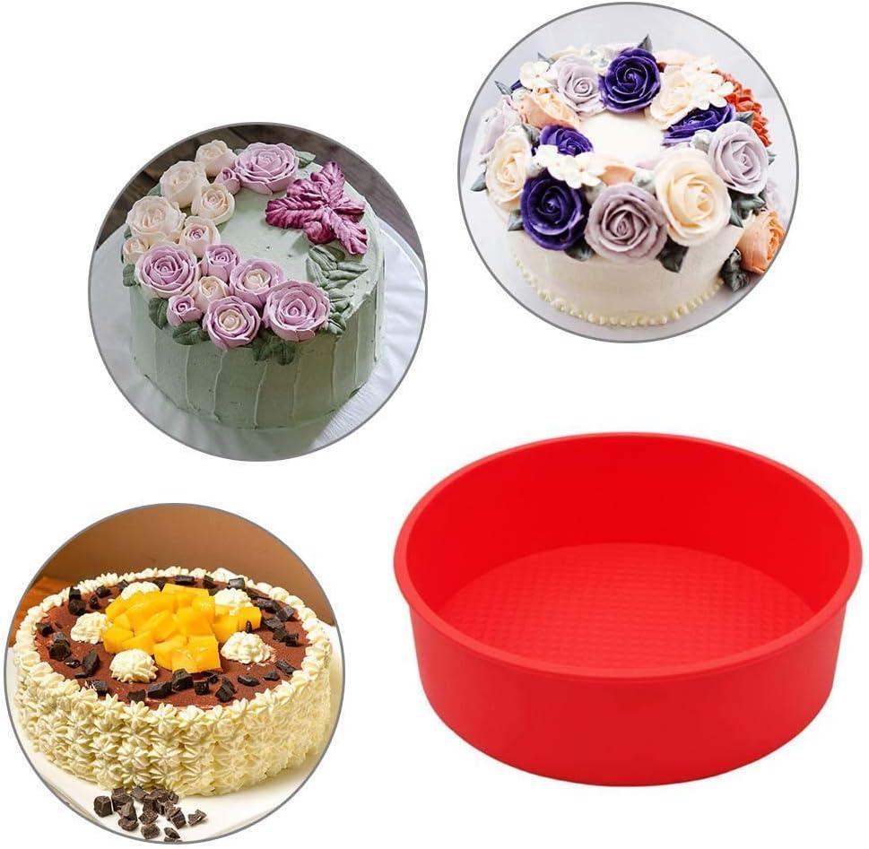 3D Non-Stick Bakeware Tray DIY Round Shape Cake Mold Baking Tools Kitchen S3