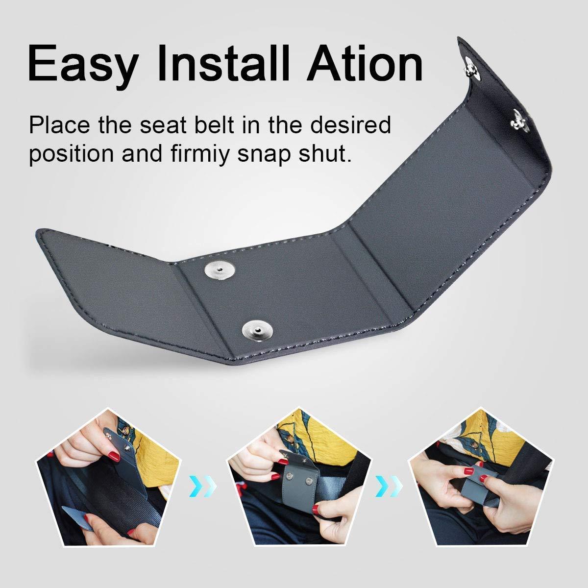 Gurte Einstellknopf Monojoy Autositz Gurtversteller Schwarz, 2 Pack Sicherheitsgurt Clips,Smart Adjust Sitzgurte Zum Entspannen Schulter Hals Geben Ihnen Eine Komfortable und sichere Erfahrung