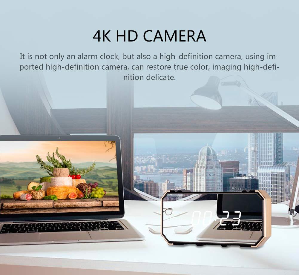 LEEBA R/éveil cam/éra Espion cach/ée avec Vision Nocturne 1080p HD WiFi sans Fil Vision Nocturne Grand Angle 140 degr/és Infrarouge Enregistrement en Boucle R/éseau de s/écurit/é