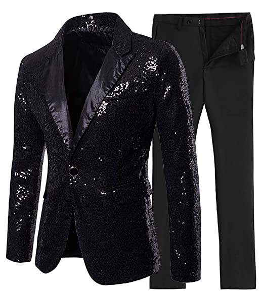 Amazon.com: 2 piezas de traje de lentejuelas brillantes para ...