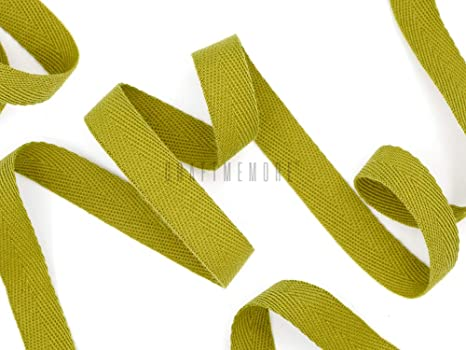 MP62 Khaki CRAFTMEMORE 1//2 Inch Twill Tape Fabric Ribbons Webbing Herringbone Twill Bias Binding Tape for Clothes Sewing Craft Trim Lace 36 Yards