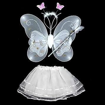 Amazon.com: HuntGold Baby Girl Ángel de hadas Stage Costume ...