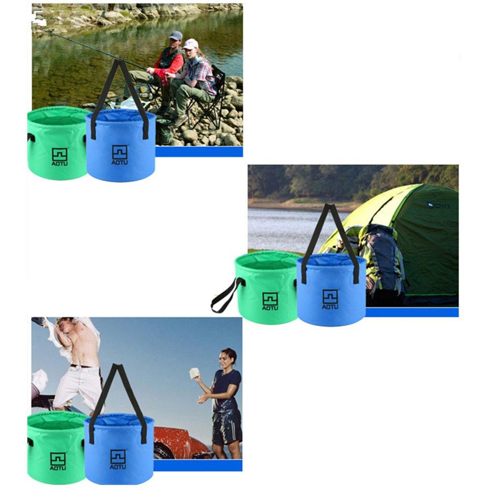Gr/ün BESPORTBLE Faltbar Eimer Falteimer Wassereimer f/ür Auto Outdoor Wandern Reisen Angeln Camping 12L