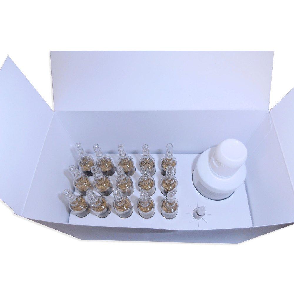 Lozione in Fiale e Shampoo Anti Caduta capelli naturali bio - Trattamento Urto Iperstimolante anche per Alopecia - Trifasiko Gold Trattamento Mgs pharma srl