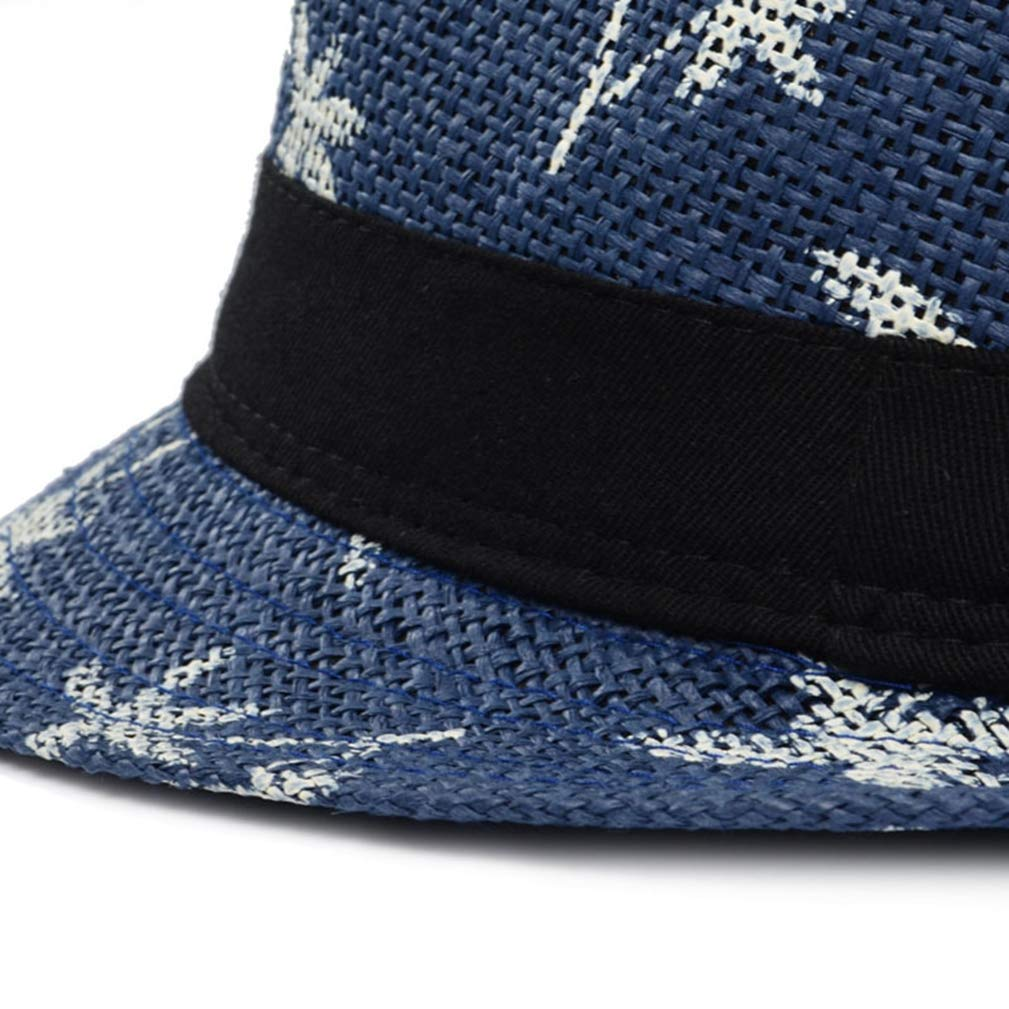 Classic Male Fedora Straw Hat Summer Hats for Men Beach Panama Hat