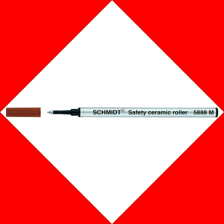 2/X Rosso Schmidt 888/5888/SRC 5888/Mine Refill per Penna Roller Medium