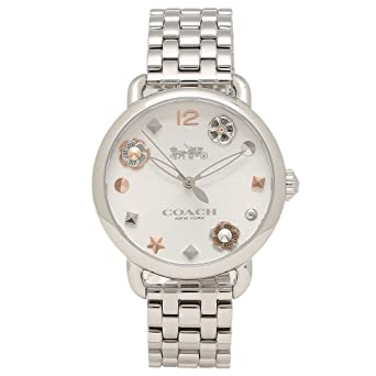 9f89057b40 Amazon | [コーチ] 腕時計 レディース COACH 14502810 シルバー [並行 ...