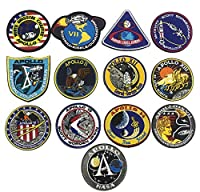 OYSTERBOY 13Pcs NASA Apollo Mission Space Moon Landing Program Patch Collection