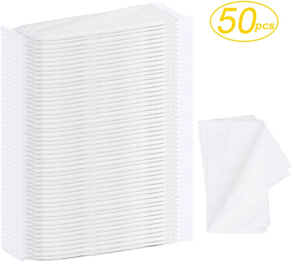 "Disposable Hair Towels,BS 50pcs Large Luxury Hair Salon Towels-Spa and Salon Quality Softness for Guests, Clients | Hair, Face, Body Use-Ecofriendly,Biodegradable,Size: 31.5"" x 15.7"": Home & Kitchen"
