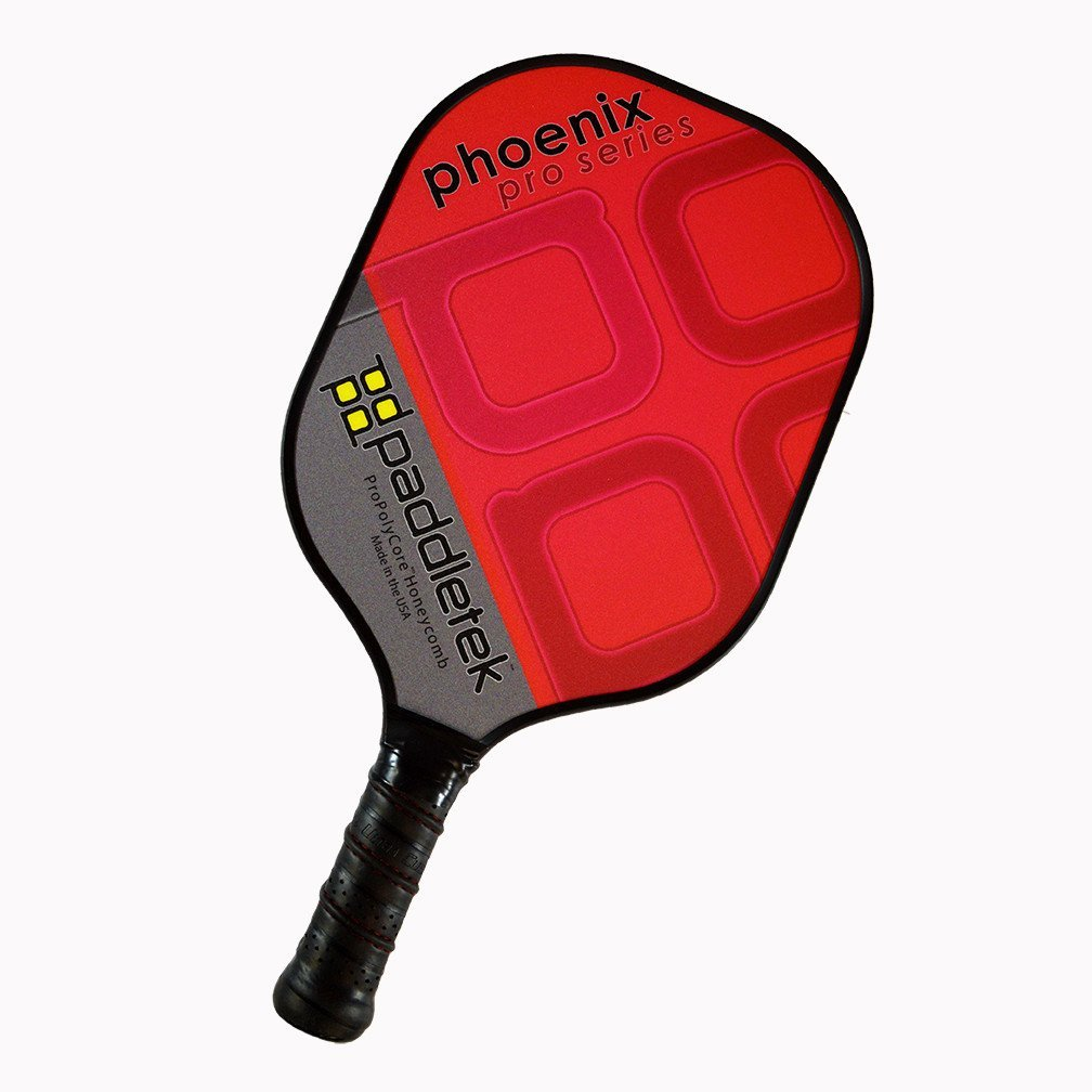 Paddletek Phoenix Pro Pickleball Paddle, Red