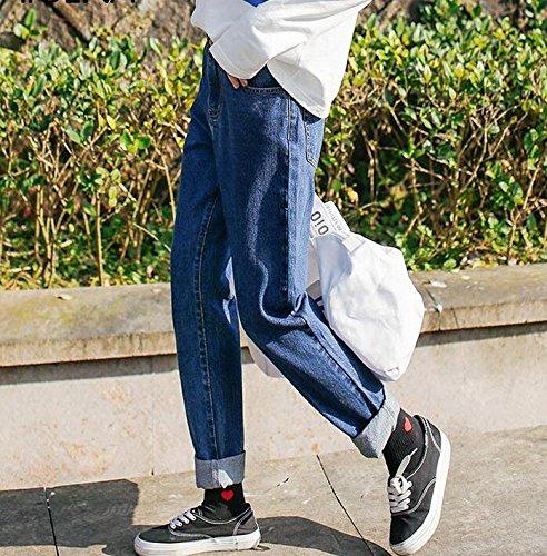 Jeans Shallow Haren Cintura Heterosexual Y Mujer pantalones Vaqueros Curling Todo De El Invierno Estudiantes Pantalones Alta Partido Otoño Mdrw 0UvFqwSaW