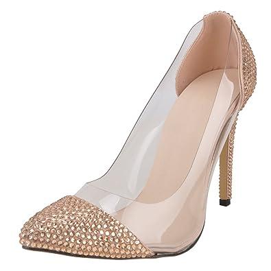 2123d2d8a4 Amazon.com | SHOELIN High Heels for Women, Sparkly Luxury Rhinestone ...