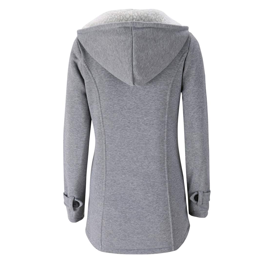 Omoone Womens Long Sleeves Fleece Lined Hoodie Casual Short Jacket Pea Coat
