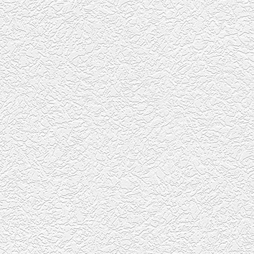 White Textured Vinyl (Manhattan comfort NW48902 Emma Series Vinyl Textured and Paintable Design Large Wallpaper Roll, 21