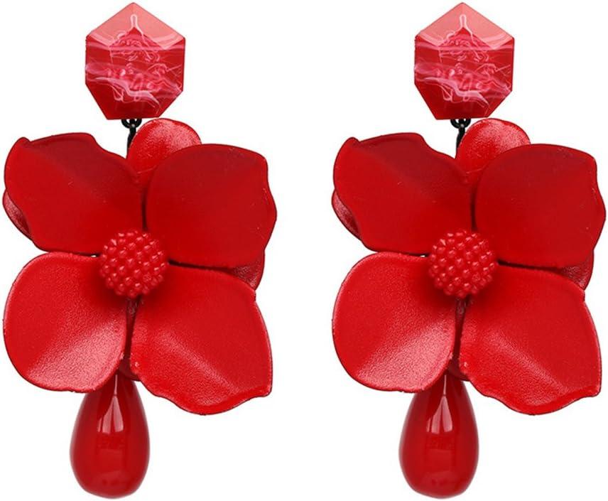 R/étro Cadeau Bijoux Ethniques Perle Boucles doreilles Tassel Boh/ême pour Fille Damen Fleur Blanc MoreChioce Boucles doreilles Femmes Longues