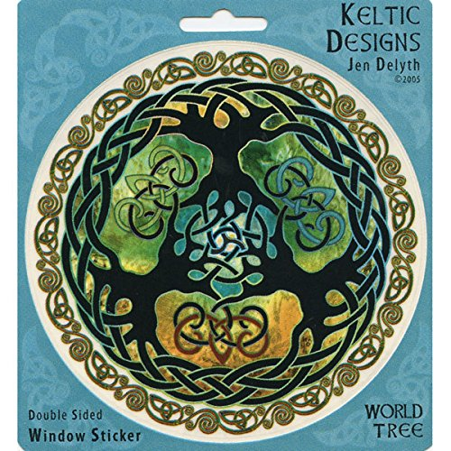 Peacemonger Celtic Branches Art Decal Window Sticker ()