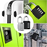 KeeKit Combination Lock, 4 Digit Combination Padlock, Waterproof Gate Lock, Resettable Combo Lock for Locker, Gym, Cases, Toolbox, School, 2 Pack - Silver & Black