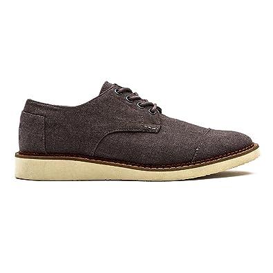 TOMS Men s Grey Chambray Brogue Casual Shoe b9a4cc1f76