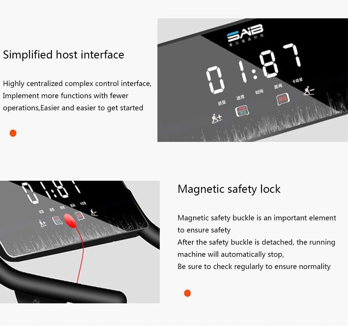 Weiming Tapis Roulant /électrique Vitesse r/églable adapt/é /à Un Usage Domestique//Professionnel 1-10 km//h supportant jusqu/à 200 kg Affichage num/érique LCD Tapis Roulant Pliable pour la Maison