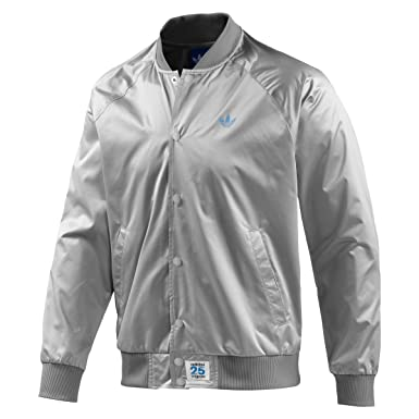 5b295b26e adidas - Hoodies & Track Tops - NYC Satin Snap Superstar Track Jacket -  Silver - S: Amazon.co.uk: Clothing